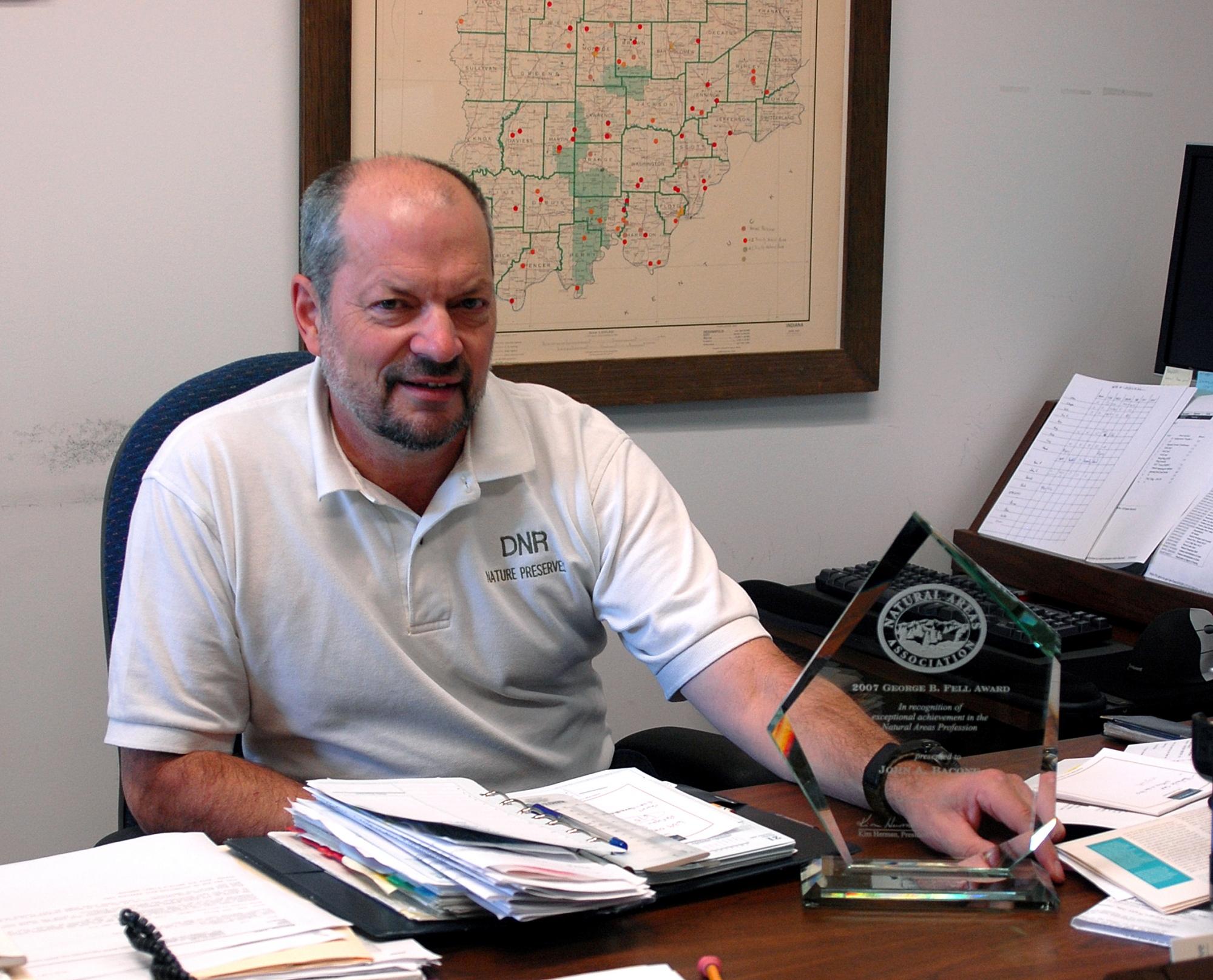 John Bacone in 2007, when he won NAA's George Fell award.